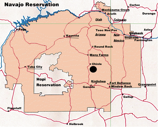 Navajo Reservation distribution map for Hypoponera inexorata
